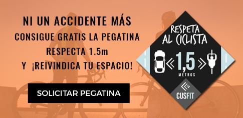 Respeta al Ciclista, pide tu pegatina gratis.